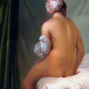 woman's nude fleshy body