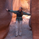 woman hiking in canyon at Red Mountain Resort & Spa