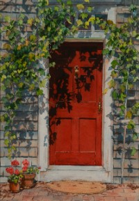Red Door by Marla Greenfield, watercolor on paper