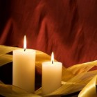 Candles and ribbon