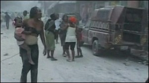 Earthquake victims in Haiti