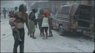 Earthquake victims in Haiti