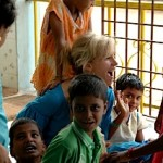 Jill Karp at orphanage in India