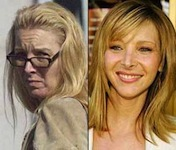 Lisa Kudrow in real life versus her media look