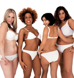 Four women with healthy bodies