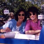 Lissa and Curt hosting a radio show at Disneyland