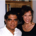 Lissa Coffey with her mentor Deepak Chopra