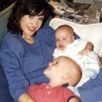 Lissa Coffey with her sons as babies