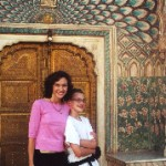Lissa and her son in India in 2000