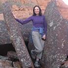 Dr Randy Kamen  hiking in the Red Mountains of Utah