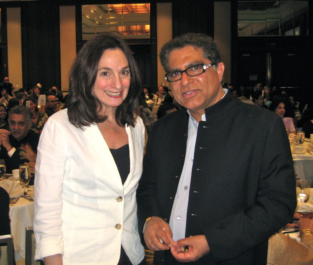 Dr. Deepak Chopra and Dr.Randy Kamen at fundraiser for India