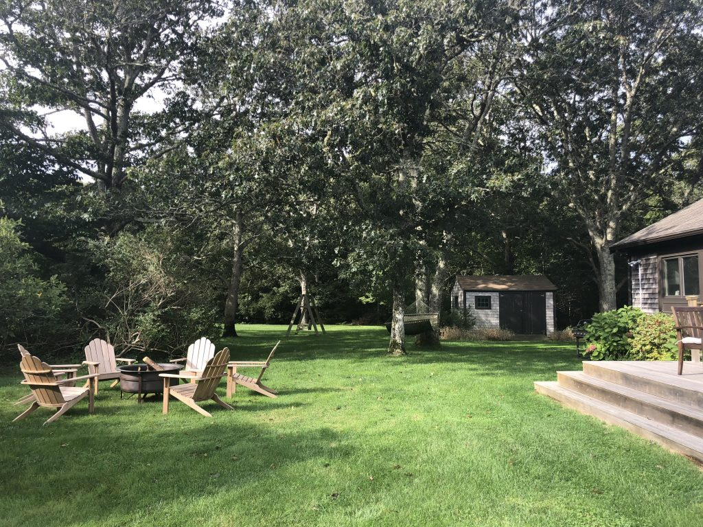 Retreat house and fire pit